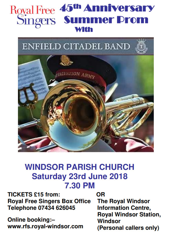 Royal Free Singers 45th Anniversary Prom with Enfield Citadel Band